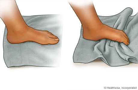 Ankle Exercies - Towel Curls